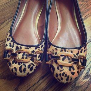 Size 6 Leopard Print Calf Hair Flats